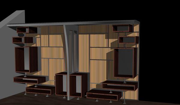 Architetto neri arredamento e design progetto mobili for Design 2000 mobili